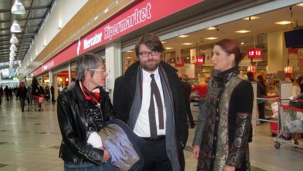 Bojana Leskovar, Luka Novak in Bernarda Žarn. (foto: Jasmina Hasković)