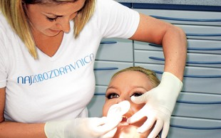 Špela Grošelj pri zobozdravniku