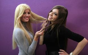 Playboyevi zajčici Katja in Špela z novimi lasnimi podaljški