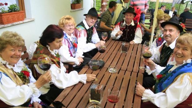Pilo in jedlo se je tudi v narodnih nošah. (foto: Jani Bozic)
