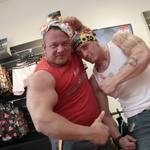 Paša za ženske oči - moške mišice Denisa iz Kocke in Gregorja Stegnarja. (foto: Jani Bozic)
