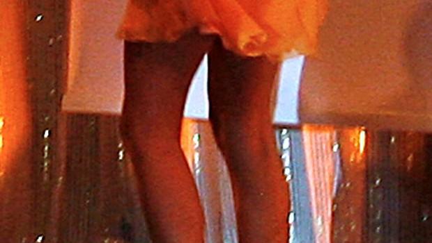 Tina je situacijo brez čevlja rešila tako, da je hodila po prstih. (foto: Vesmin Kajtazovič)