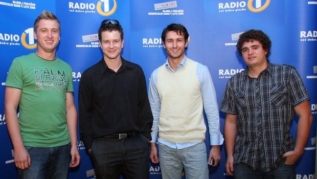 Radijski voditelji Radia1: Denis Avdić, Boštjan Romih, Gregor Bolčina in Luka Bregar. (foto: Jasmina Hasković)