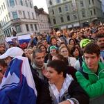 Sprejem nogometašev na Prešernovem trgu. 4 (foto: Jasmina Hasković)