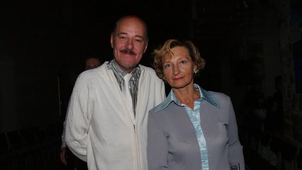 Slovenska manekenska legenda Rok Lasan in njegova žena Bernarda. (foto: Jasmina Hasković)