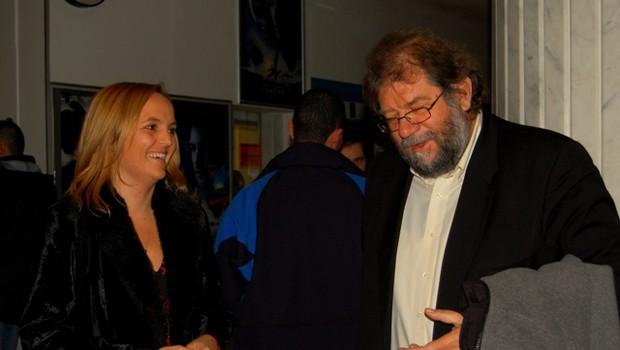 Nekdanja televizijka, zdaj izvršna direktorica AmCham Ajša Vodnik in Ervin Hladnik Milharčič sta prijetno klepetala tudi pred začetkom dogodka. (foto: DonFelipe)