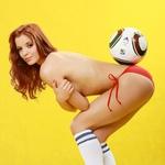 Žoga in Sabina, nogomet in lepotica: odlična kombinacija. (foto: Vesmin Kajtazovič)