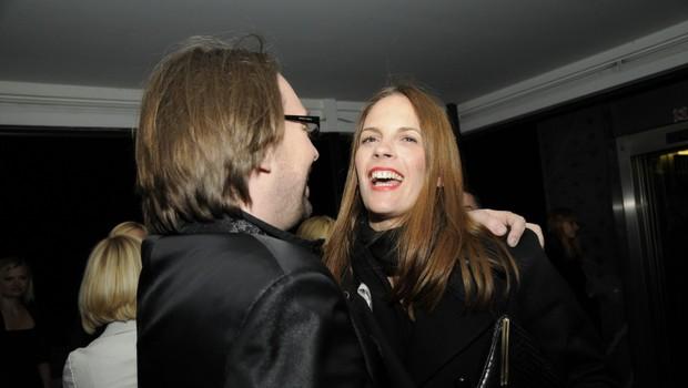 Primož Ogrizek se je razveselil Maje Raspopovič. (foto: Sašo Radej)