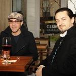 Zdenko Cotič - Coto, ki z Nino nastopa v spremljevalni skupini Jana Plestenjaka in Ninin avtor Martin Štibernik sta uživala ob Ninini glasbeni predstavi. (foto: Sašo Radej)