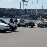 Naš bralec paparac je oba akterja ujel na pomolu v Kopru, ko sta ravno odhajala. (foto: Paparaco)