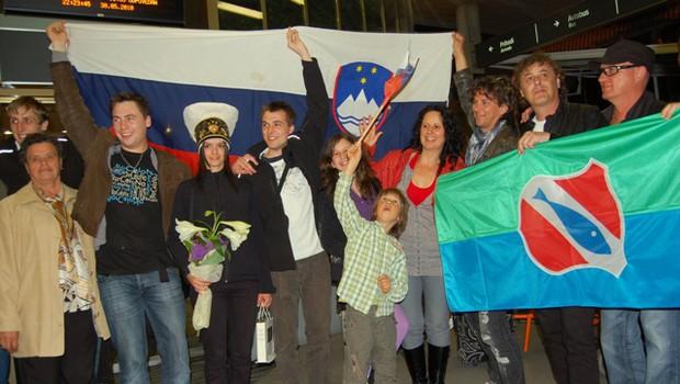 Slovenska delegacija je bila na letlaišču toplo sprejeta. (foto: DonFelipe)