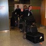 Na letališču so bili vsi veseli prihoda v Slovenijo. (foto: DonFelipe)