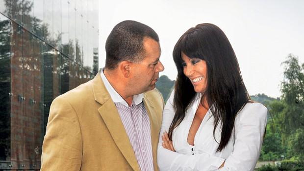 Suzana Jakšič je zapecala pravega gospoda in art direktorja Playboya Gojka Zrimška. (foto: Primož Predalič)