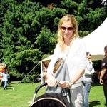 Nekdanja smučarka Urška Hrovat je uživala s svojim sinčkom. (foto: Grega Gulin)