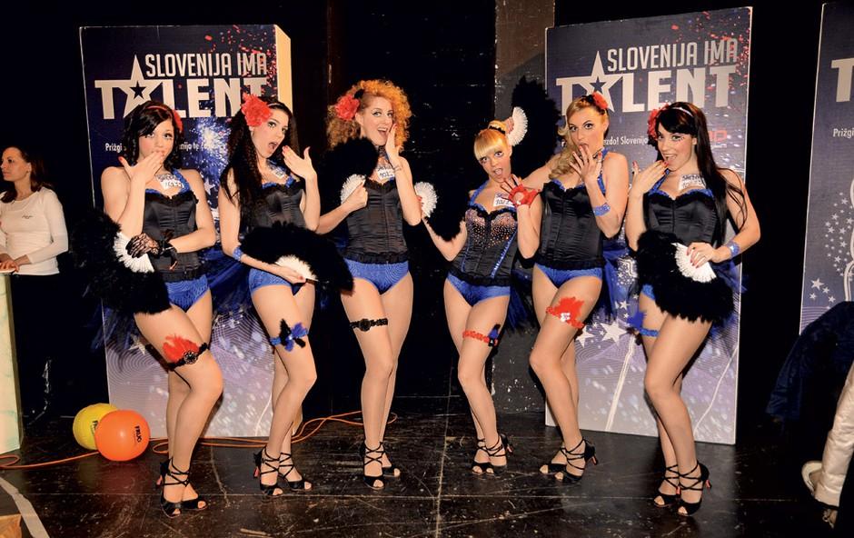 Med poplavo talentov so zelo izstopale seksi plesalke, ki slišijo na ime SheDivaz. (foto: Sašo Radej)