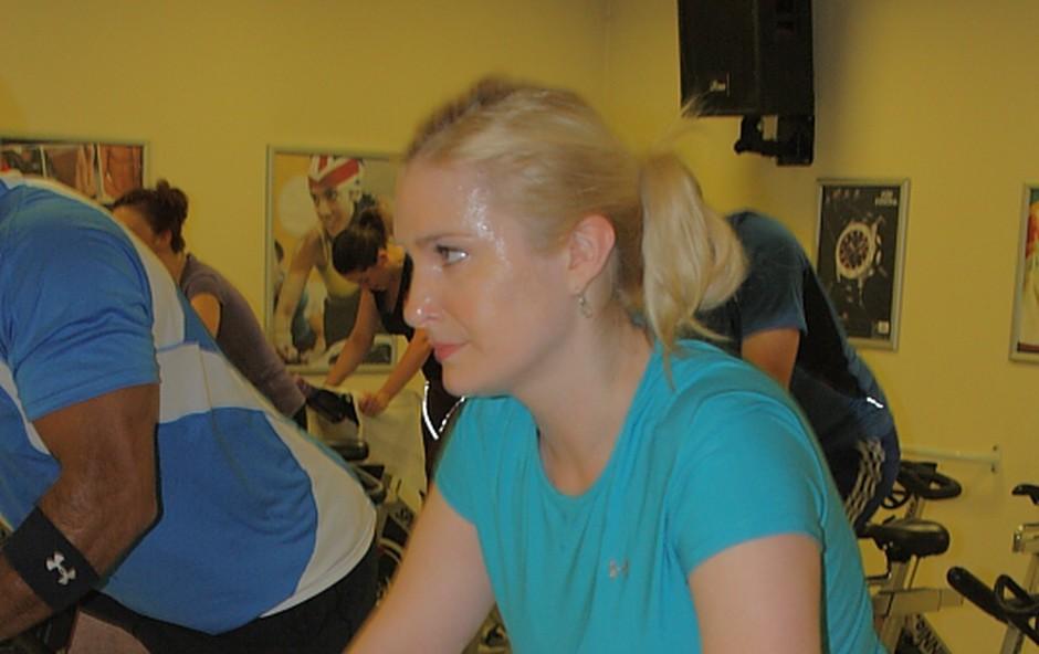 Danica na kolesu (foto: Aleš Pavletič)