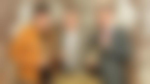 6Pack Čukur ni skrival navdušenja nad najboljšo penino na svetu. Ob njem zastopnika za Slovenijo, predsednik uprave podjetja Mabat Int. Jožef Prosevc in vodja prodaje Aleš Grahek.