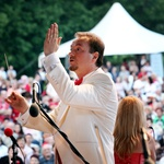 Dirigent Patrik Greblo v elementu (foto: Žare Modlic)