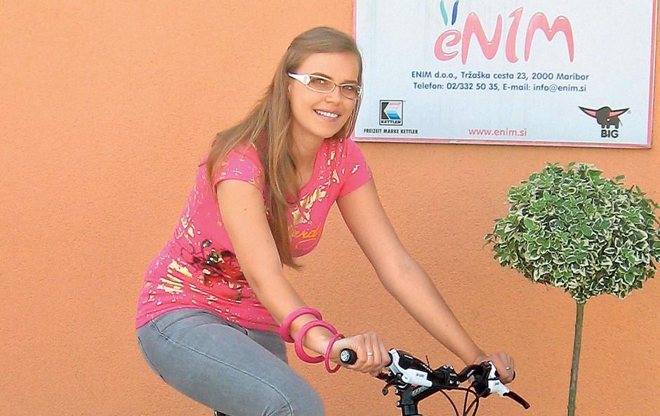 Njeno novo kolo je 'dobilo noge'. (foto: MM)