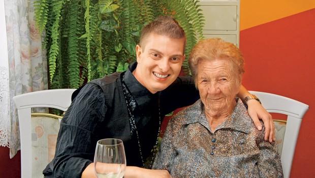 Damjan Murko s prababico Angelo (foto: arhiv Nove)