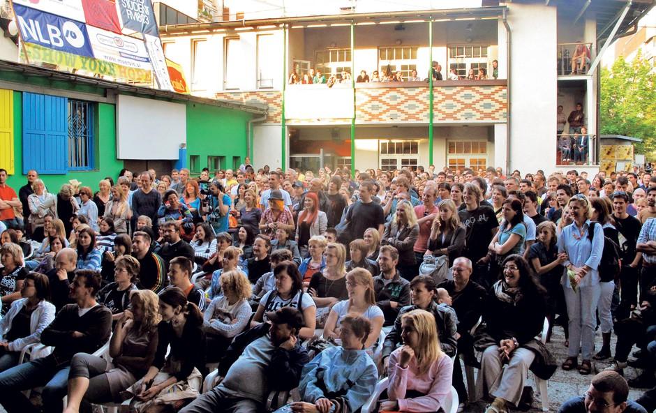Ljubljana, 26. julija KUD France Prešeren, odprtje Trnfesta (foto: FOTO: GORAN ANTLEY)