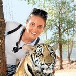 Miša in Gorazd sta obiskala tempelj tigrov v Bangkoku. (foto: osebni arhiv)