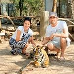 Najbolj jo je očaral majhen tigrček, ki se je že navadil na trume ljudi. (foto: osebni arhiv)