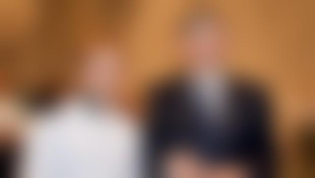 Litijski čevljar Mitja Hojak v družbi predsednika RS dr. Danila Türka.