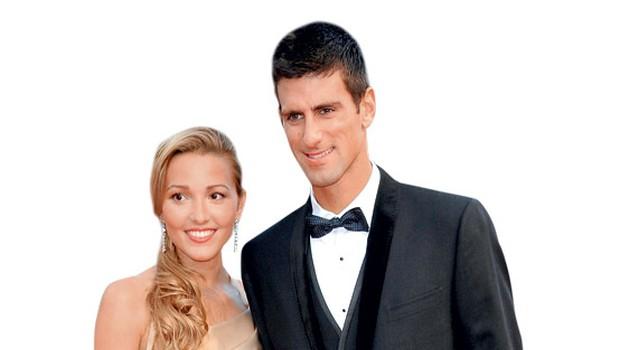 Novak Đoković in Jelena Ristić (foto: Profimedia.si)