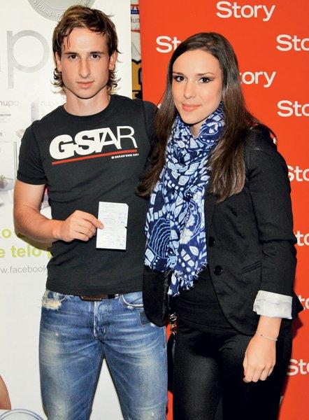 Filmsko premiero si je s svojo punco Renato prišel ogledat tudi Matic Fink, nogometaš Olimpije.