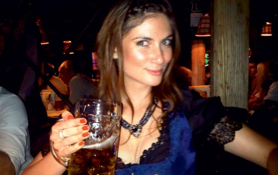 Nuša Šenk na Oktoberfestu (foto: Story Press)