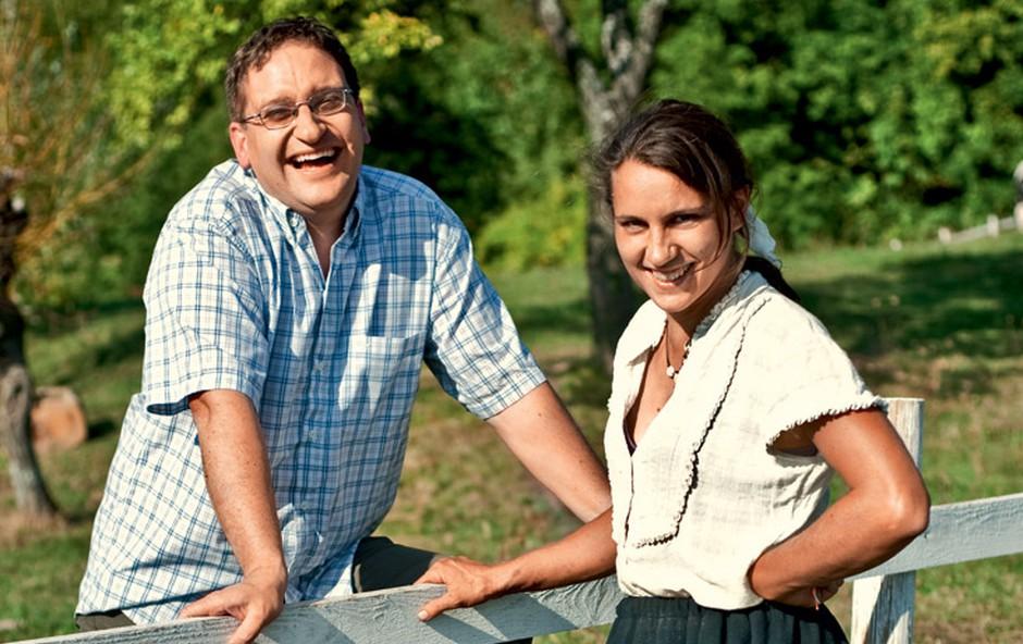 mož Matej Franc in Vesna Krajnc Franc (foto: Helena Kermelj)