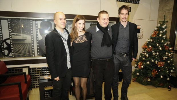 Nejc Gazvoda, Nina Rakovec, Luka Cimprič in Jure Henigman (foto: Sašo Radej)