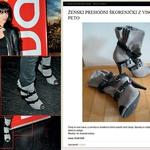 Za 15 evrov lahko kupite čevlje z visoko peto, ki spominjajo na tiste, ki jih je Sabina obula za obisk Koloseja. (foto: Story press, Fashion.si)