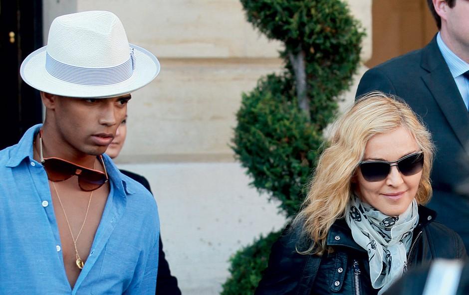 Brahim Zaibata in Madonna (foto: Profimedia.si)