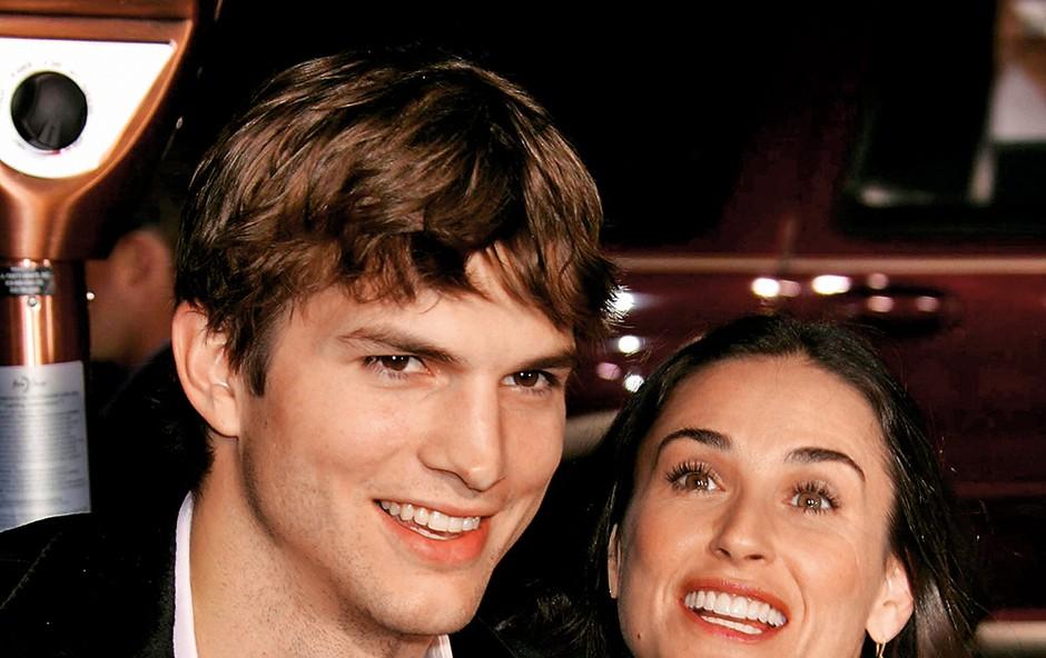 Ashton Kutcher in Demi Moore (foto: Profimedia)