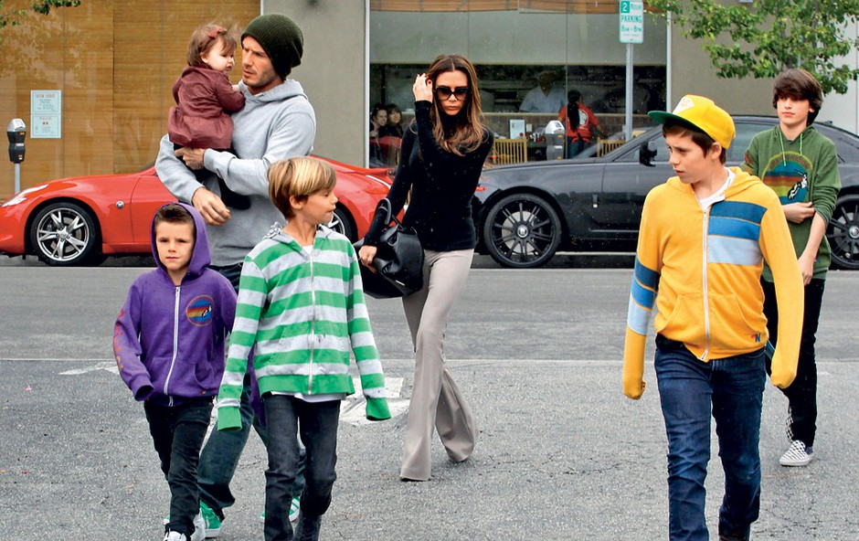 družina Beckham (foto: Profimedia.si)