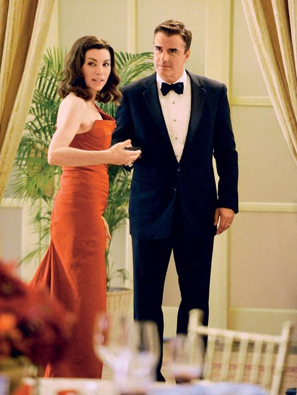 Julianna Margulies je v seriji Dobra žena s Chrisom Nothom posnela prizor oralnega seksa.