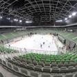 Slovenski hokejisti prvič preizkusili ledeno ploskev v Stožicah