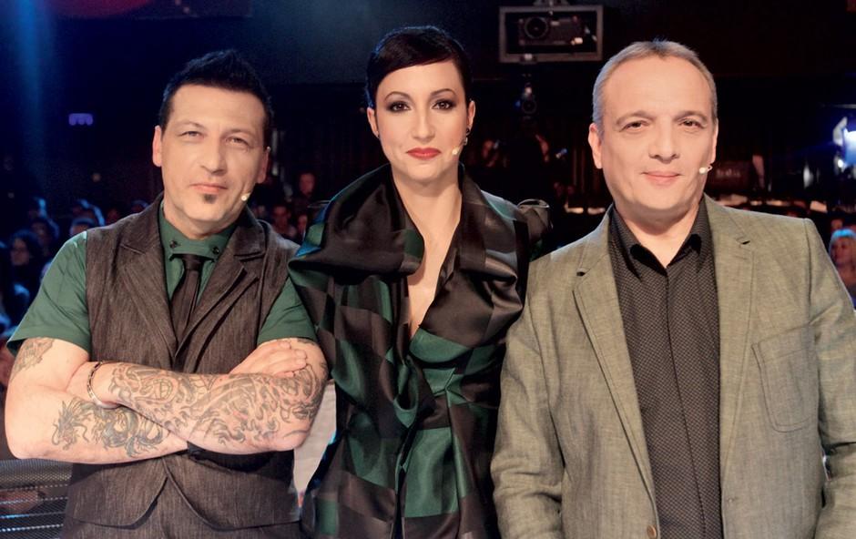 Aleš Uranjek, Jadranka Juras in Damjan Damjanovič (foto: Goran Antley)