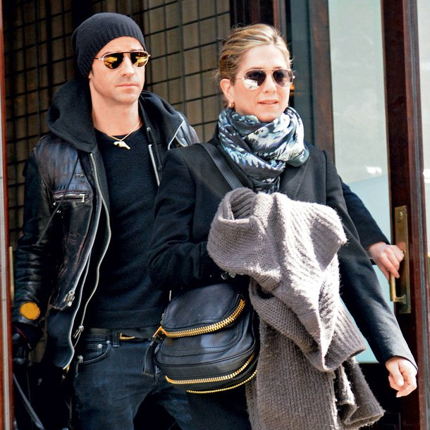 Justin Theroux in Jennifer Aniston