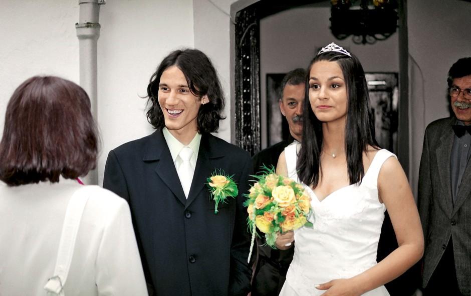 Renata in Primož Peterka poroka (foto: Primož Predalič)