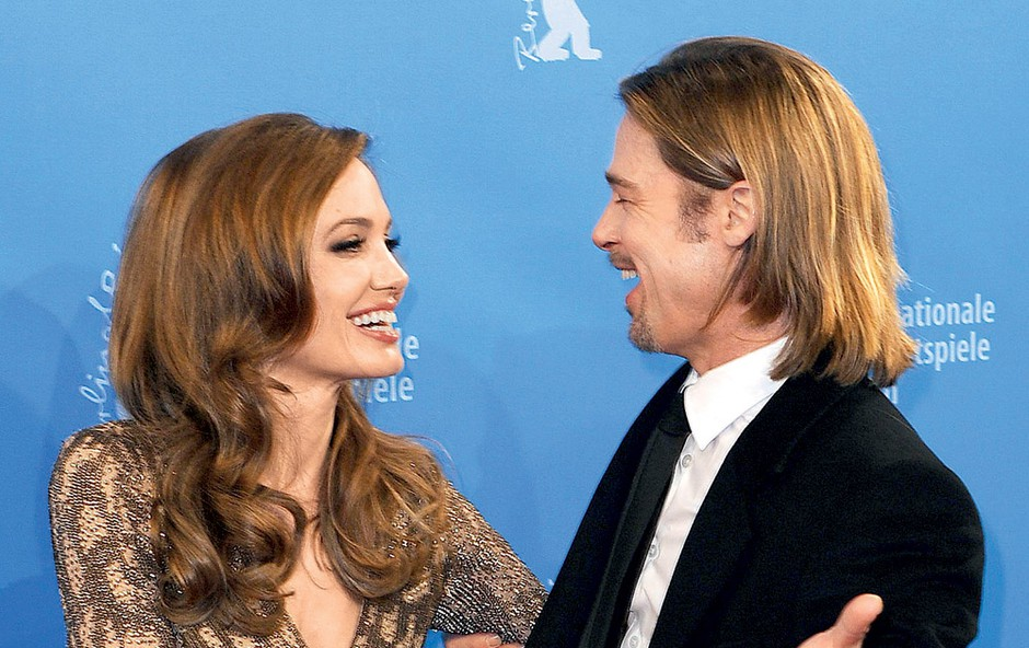 Angelina JOlie in Brad Pitt (foto: Profimedia.si)