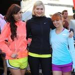 Nike ambasadorke Ula Šemole, Manca Špik in Tina Vunjak. (foto: Peter Klinc)