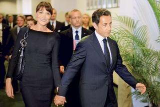 Carla Bruni in Nicolas Sarkozy