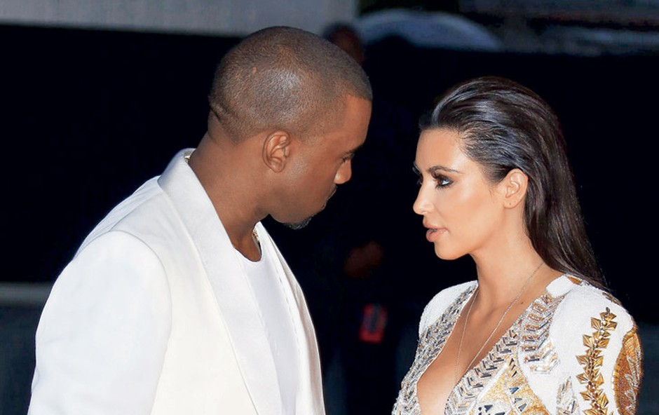 Kanye West in Kim Kardashian (foto: Profimedia.si)