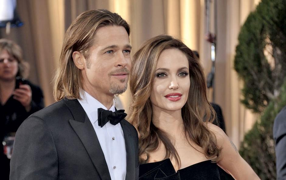 Brad Pitt in Angelina Jolie (foto: Profimedia.si)