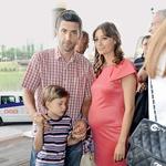 Film si je ogledal tudi Marinko Galič. Spremljala sta ga žena Sara in sin Marin. (foto: Primož Predalič)