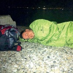 Tako se je gradila zmaga. Papp je prespal tudi pod milim nebom na mestni plaži.  (foto: osebni arhiv)