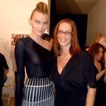 Maja v zaodrju milanskega tedna mode z manekenko. (foto: osebni arhiv)